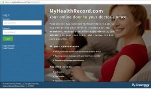 MyHealthRecord.com East Cobb Peds, Patient portal